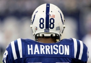 Colts wide receiver Harrison is seen during their AFC Divisional NFL playoff football game against the Chargers in Indianapolis
